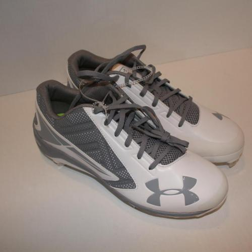 Under-Armour-UA-Yard-Low-ST-Baseball-Metal-Cleats-White-Gray