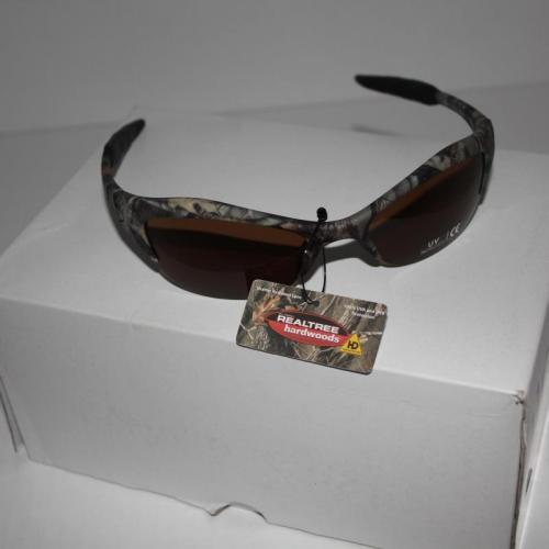 Brand New Mossy Oak Traditional Camo Sports Wrap Sunglasses.
