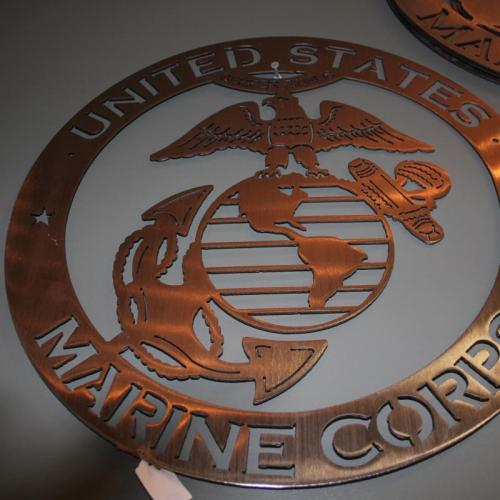 Metal Marine Corp Sign